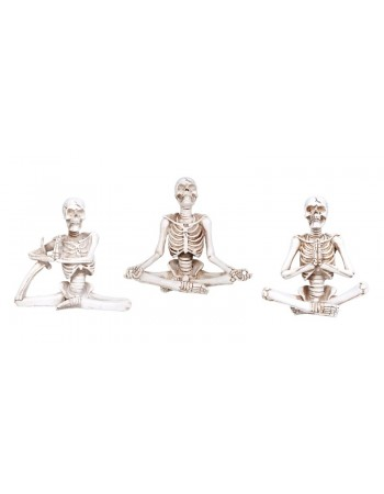Yoga Skeletons Set of 3 Statues Mythic Decor  Dragon Statues, Angels, Myths & Legend Statues & Home Decor