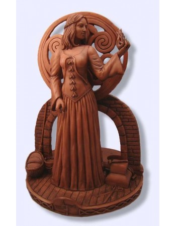 Brigit Goddess of the Hearth Candle Holder Statue