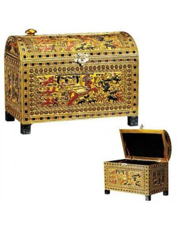 King Tut Hunting Scene Chest Mythic Decor  Dragon Statues, Angels, Myths & Legend Statues & Home Decor