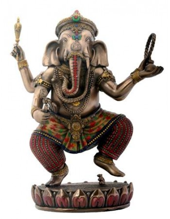 Dancing Ganesha on Lotus Bronze Resin Statue Mythic Decor  Dragon Statues, Angels, Myths & Legend Statues & Home Decor