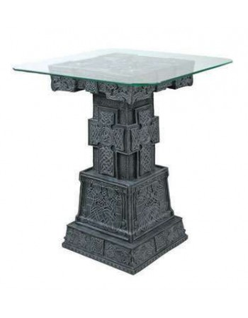 Celtic Cross Side Table Mythic Decor  Dragon Statues, Angels, Myths & Legend Statues & Home Decor