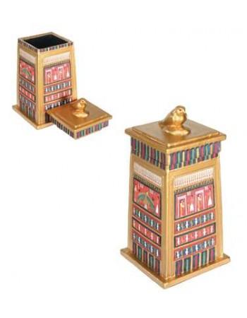 Horus Falcon Column Box Mythic Decor  Dragon Statues, Angels, Myths & Legend Statues & Home Decor