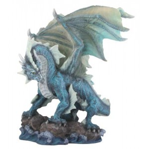 Water Dragon Blue Statue Mythic Decor  Dragon Statues, Angels & Demons, Myths & Legends |Statues & Home Decor