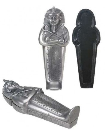 Egyptian Pharaoh Sarcophagus Coffin Box Mythic Decor  Dragon Statues, Angels, Myths & Legend Statues & Home Decor