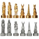 Egyptian Pewter Chess Set at Mythic Decor,  Dragon Statues, Angels & Demons, Myths & Legends |Statues & Home Decor