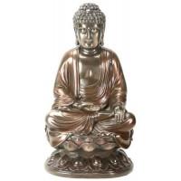 Buddha on Lotus Bronze Resin Statue