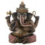 Sitting Ganesha Bronze Resin Statue at Mythic Decor,  Dragon Statues, Angels, Myths & Legend Statues & Home Decor