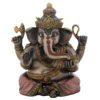 Sitting Ganesha Bronze Resin Statue