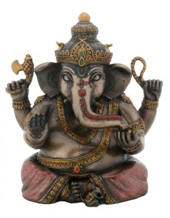 Sitting Ganesha Bronze Resin Statue Mythic Decor  Dragon Statues, Angels & Demons, Myths & Legends |Statues & Home Decor