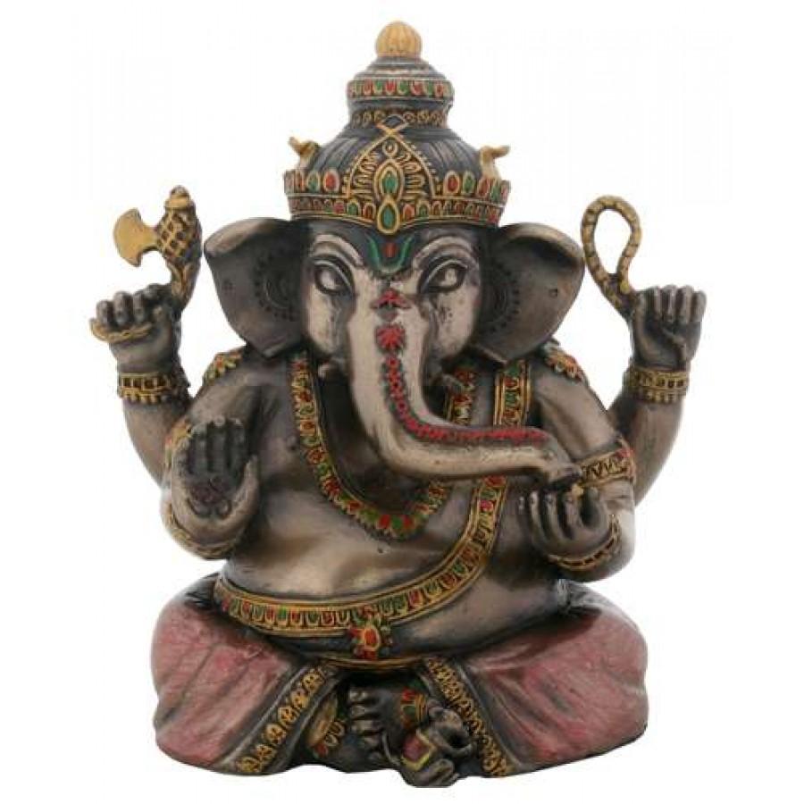 Sitting Ganesha Bronze Resin Statue
