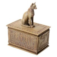Bastet Sandstone Color Resin 5 Inch Box