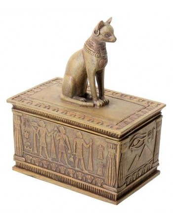 Bastet Sandstone Color Resin 5 Inch Box Mythic Decor  Dragon Statues, Angels & Demons, Myths & Legends  Statues & Home Decor