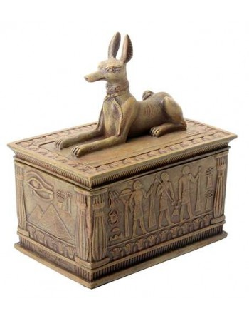 Anubis Sandstone Color Resin 5 Inch Box Mythic Decor  Dragon Statues, Angels, Myths & Legend Statues & Home Decor