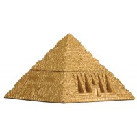 Pyramid Egyptian Golden 3 Inch Box