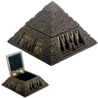 Pyramid Egyptian Bronze Finish 2 3/4 Inch Box