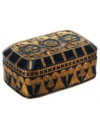 Scarab and Lotus Egyptian Revival Trinket Box Mythic Decor  Dragon Statues, Angels, Myths & Legend Statues & Home Decor