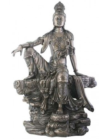 Kuan-Yin Water and Moon Goddess Statue Mythic Decor  Dragon Statues, Angels & Demons, Myths & Legends |Statues & Home Decor
