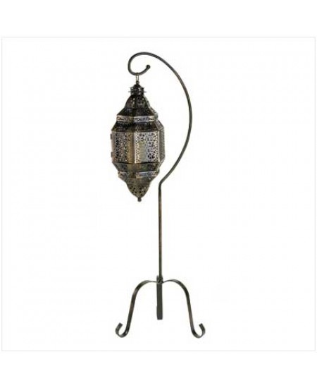 Moroccan Candle Lantern with Stand at Mythic Decor,  Dragon Statues, Angels & Demons, Myths & Legends |Statues & Home Decor
