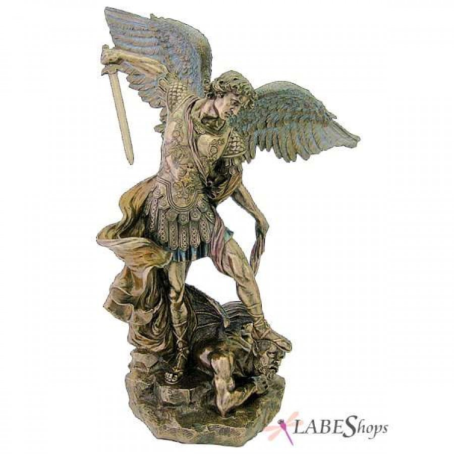 Archangel St Michael Large Bronze Resin Statue