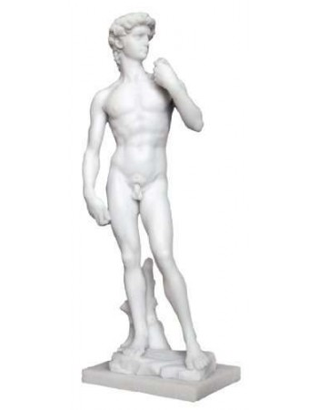 David by Michelangelo White Marble Statue