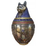 Bastet Large Bronze Canopic Jar at Mythic Decor,  Dragon Statues, Angels & Demons, Myths & Legends |Statues & Home Decor