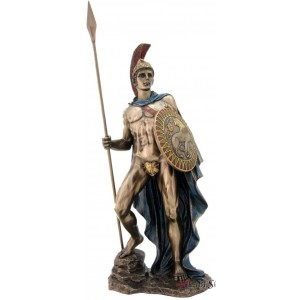 Ares Greek God of War Bronze Statue Mythic Decor  Dragon Statues, Angels & Demons, Myths & Legends |Statues & Home Decor