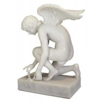 Cupid with Butterfly Chaudet Marble Statue