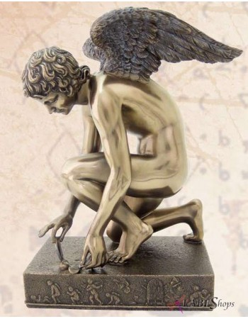 Cupid with Butterfly Chaudet Bronze Statue