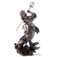 Poseidon Lord of the Sea Bronze Statue