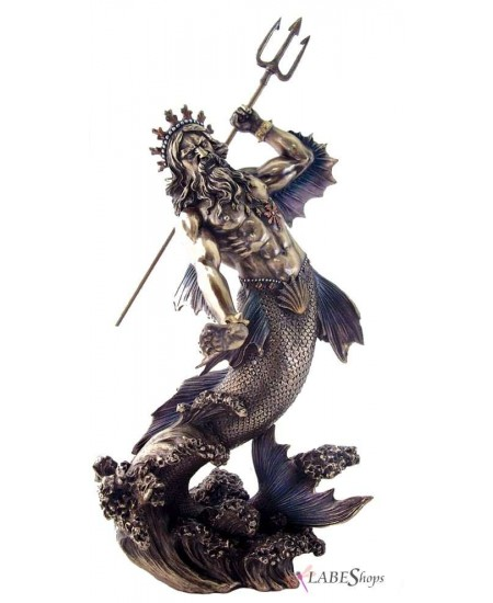 Poseidon Lord of the Sea Bronze Statue