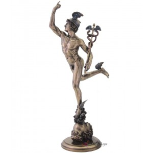 Flying Mercury by Giovanni da Bologna Statue Mythic Decor  Dragon Statues, Angels & Demons, Myths & Legends |Statues & Home Decor