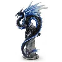Sapphire Sentinel Dragon Statue