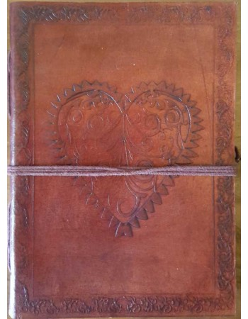 Heart Leather Journal Mythic Decor  Dragon Statues, Angels, Myths & Legend Statues & Home Decor