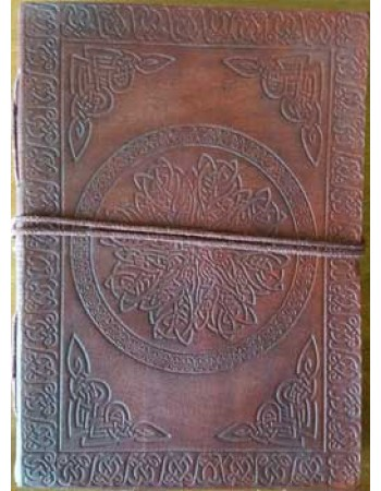 Celtic Mandala Leather Journal Mythic Decor  Dragon Statues, Angels, Myths & Legend Statues & Home Decor