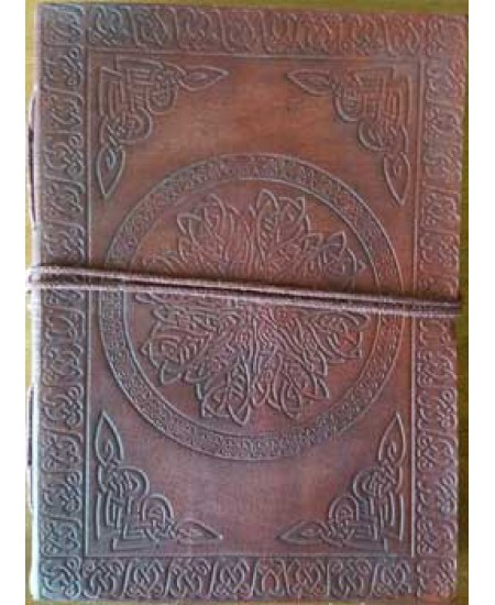 Celtic Mandala Leather Journal at Mythic Decor,  Dragon Statues, Angels & Demons, Myths & Legends |Statues & Home Decor
