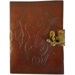 Double Dragon Leather Journal with Latch at Mythic Decor,  Dragon Statues, Angels & Demons, Myths & Legends |Statues & Home Decor