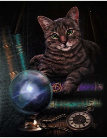 Fortune Teller Cat Canvas Print by Lisa Parker Mythic Decor  Dragon Statues, Angels & Demons, Myths & Legends |Statues & Home Decor