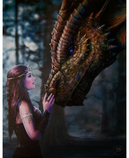 Once Upon a Time Canvas Print by Anne Stokes at Mythic Decor,  Dragon Statues, Angels & Demons, Myths & Legends |Statues & Home Decor