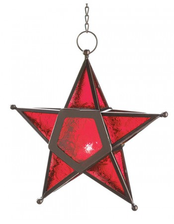 Star Hanging Lantern - Red Mythic Decor  Dragon Statues, Angels, Myths & Legend Statues & Home Decor