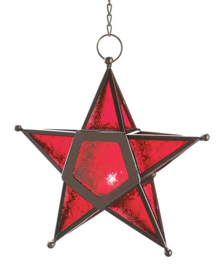 Star Hanging Lantern - Red at Mythic Decor,  Dragon Statues, Angels, Myths & Legend Statues & Home Decor