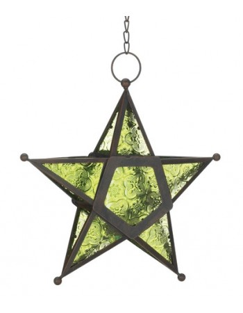Star Hanging Lantern - Green Mythic Decor  Dragon Statues, Angels, Myths & Legend Statues & Home Decor